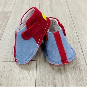 PIPIT suede stripe sky red walker shoes